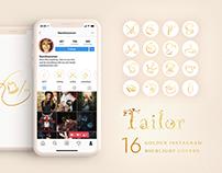 Golden Instagram Highlight Covers