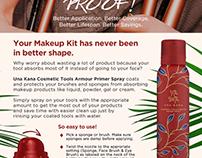 Una Kana Cosmetic Tools Armour Primer Spray