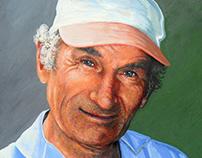 Cheerful man. Portrait to order.