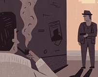 Film Noir Illustrations