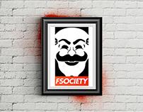 FSOCIETY - Fan Art Poster