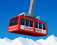 Champery Ski Poster
