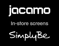 Motion graphics in-store screens - Jacamo & Simply Be