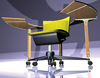 Wing Chair drawn in AutoCad & 3D Studio Max