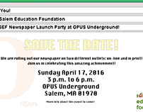 OPUS Newspaper Launch Party Save the Date