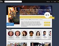 IMDb movie redesign