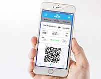KLM Boarding Pass Concept