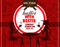 "Web campaign for On fire ""Buffet with Bestie"""