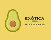 Redes sociales: Exótica Premium