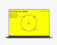Pollution in London - interactive website