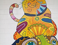 King's Road Veterinary Clinic: Mural and spot paintings