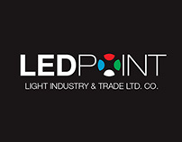"""Led Point"" Light Industry Logo and Corporate Design"