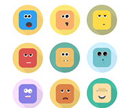 Emotion characters Icons. Sketch FREE download