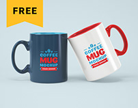 Free Full Wrap Mug Mockup