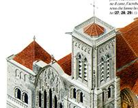 Cattedrale di Vèzelay per Giorgio Mondadori Editore.