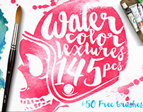 145 Watercolor Textures + BONUS
