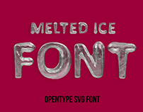 Melted Ice Font