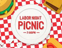 Labor Night Picnic - Event Artwork