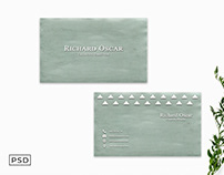 Free Green Minimalist Business Card Template Display