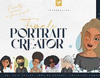 Female Portrait Creator for Ps and Ai
