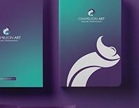 Chameleon art Branding