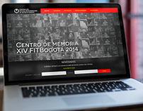 Festival de teatro Bogotá - Landing Page