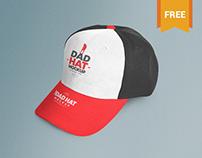 Customizable Free Dad Hat Mockup PSD