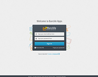Various web app screens