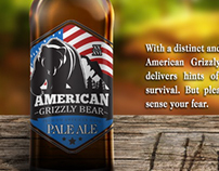 American Grizzly Bear Beer (Label and Ad)