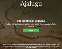 Imeline Teadus - landing page for A/B test