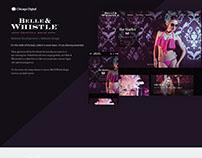 Belle & Whistle - Website Design
