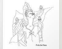 Frida Con Monos