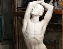 Tanulmány/Study of a nude, 190 cm, gypsum, 2002