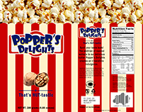 Popper's Delights Package Design