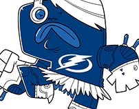 Tampa Bay Lightning themed superhero