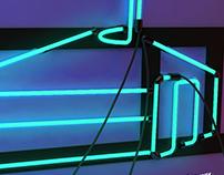 Neon sign OF YURT