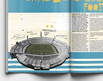 Illustration For Football Magazine BoxToBox