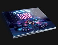 Hood Mixtape CD Cover PSD Template
