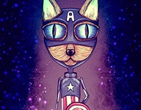 ArtePad - Captain America Cat