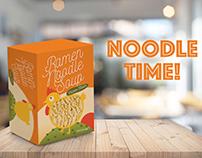 Ramen noodle soup chicken flavor