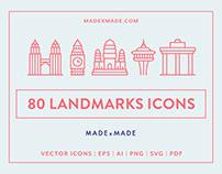 Line Icons – Landmarks