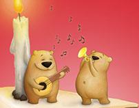 Party bears – Cute children's birthday card
