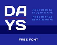 Days Free Font