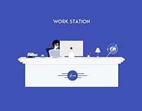 Work station illustration