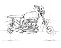 SKETCHBOOK - Cafe Racer & Scrambler