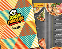 pizza restaurant design menu and photo