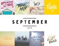 Daily Lettering | SEPTEMBER