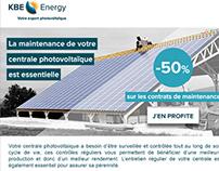 Emailing et formulaire de contact KBE energy