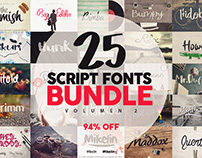 25 Fonts Bundle vol.2