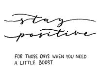 Hand Lettered Positivity